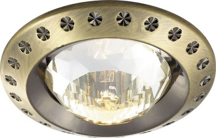 Светильник встраиваемый Novotech Glam, цвет: прозрачный, GX5.3, 2,8 Вт. 369645369645
