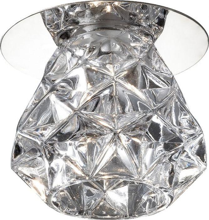 Светильник встраиваемый Novotech Crystal, цвет: прозрачный, G4, 1,1 Вт. 369673369673