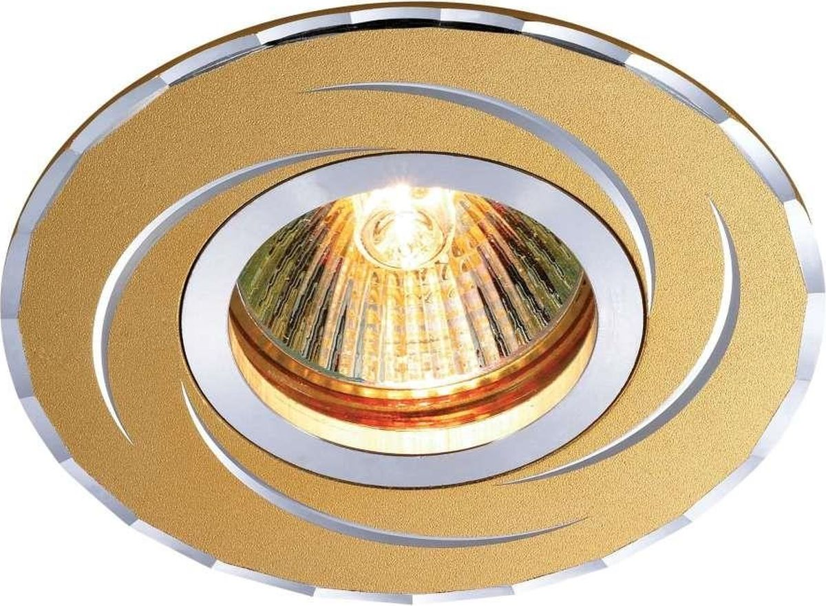 Светильник встраиваемый Novotech Voodoo, цвет: золото, GX5.3, 2,8 Вт. 369769 novotech 369769