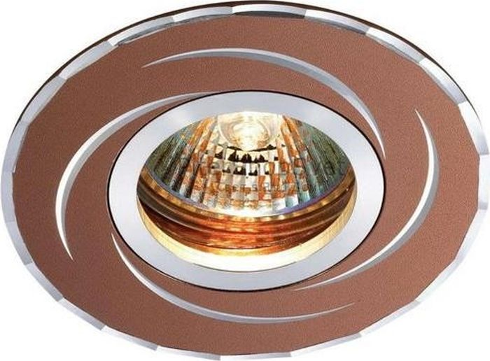 Светильник встраиваемый Novotech Voodoo, цвет: коричневый, GX5.3, 2,8 Вт. 369770369770