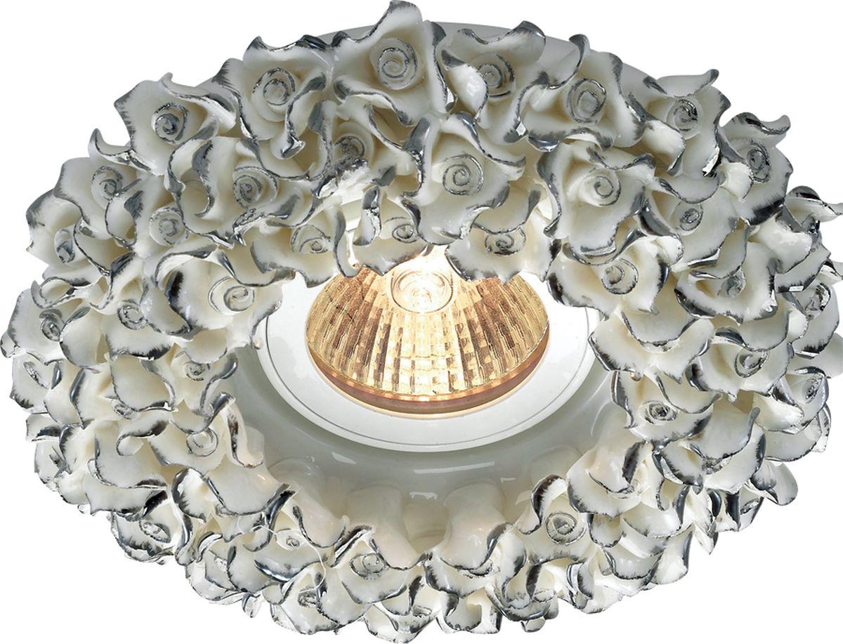 Светильник встраиваемый Novotech Farfor, цвет: серый, GX5.3, 2,8 Вт. 369950369950