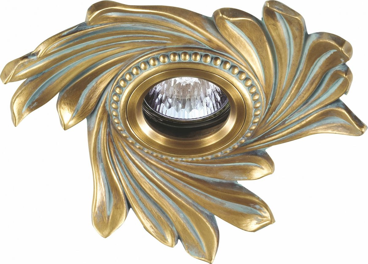 Светильник встраиваемый Novotech Vintage, цвет: бронза, GX5.3, 2,8 Вт. 369965369965