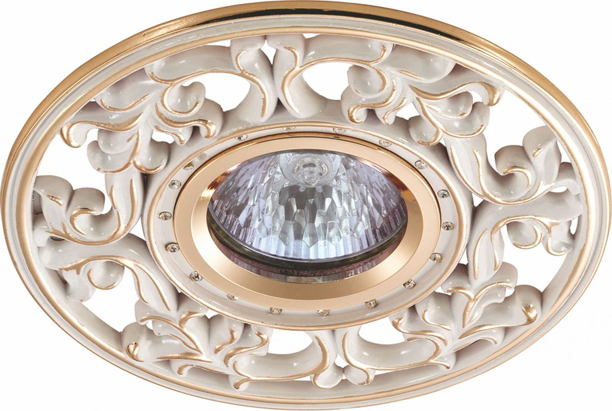 Светильник встраиваемый Novotech Vintage, цвет: белый, GX5.3, 2,8 Вт. 369989369989