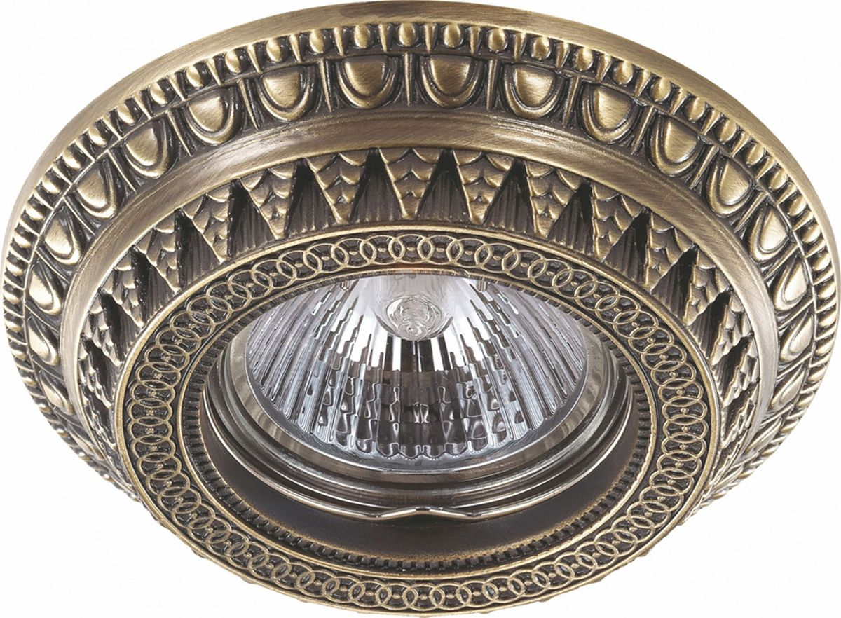 Светильник встраиваемый Novotech Vtntage, цвет: бронза, GX5.3, 2,8 Вт. 370006370006