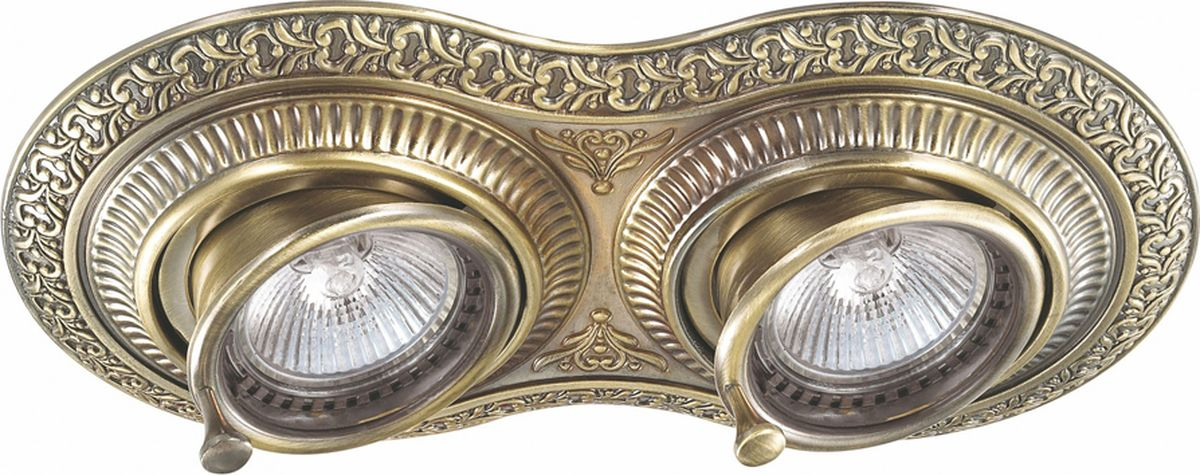 Светильник встраиваемый Novotech Vintage, цвет: бронза, GX5.3, 5,6 Вт. 370012370012