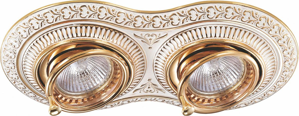 Светильник встраиваемый Novotech Vintage, цвет: золото, GX5.3, 5,6 Вт. 370013370013