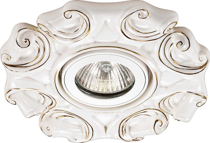 Светильник встраиваемый Novotech Farfor 127, цвет: белый, GX5.3, 2,8 Вт. 370042370042