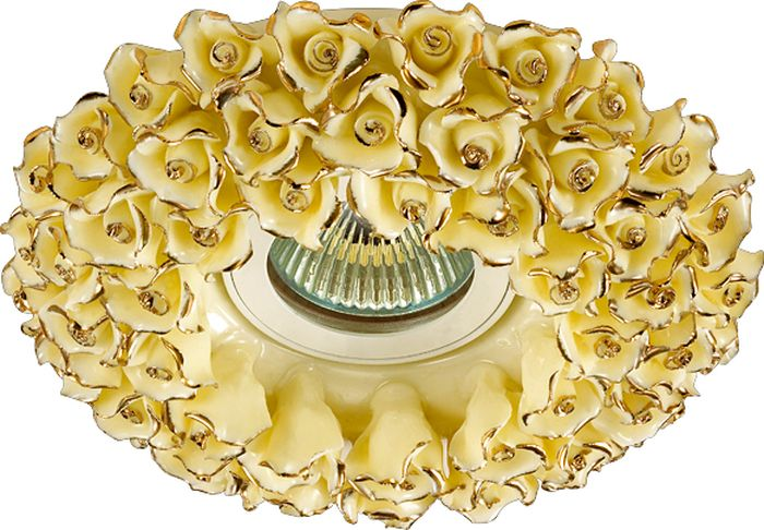 Светильник встраиваемый Novotech Farfor 128, цвет: желтый, GX5.3, 2,8 Вт. 370045370045