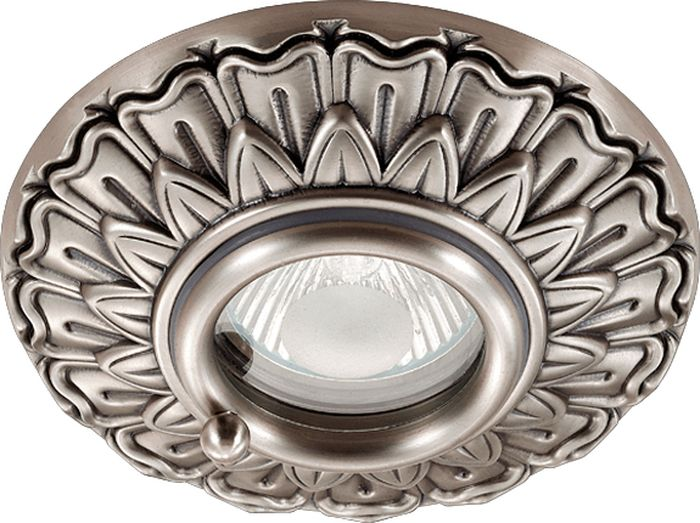 Светильник встраиваемый Novotech Daisy 315, цвет: серый, GX5.3, 2,8 Вт. 370052370052