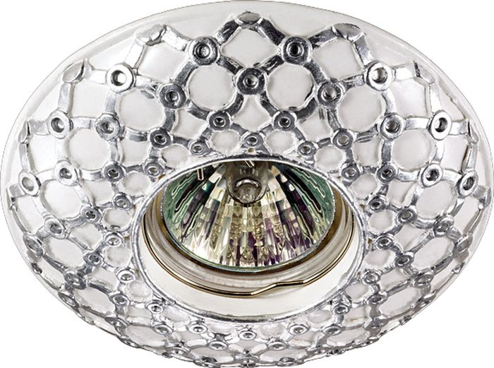 Светильник встраиваемый Novotech Pattern 086, цвет: белый, GX5.3, 2,8 Вт. 370114370114