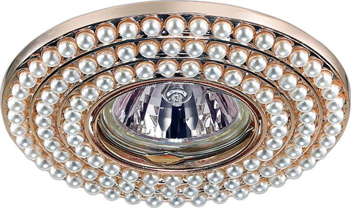 Светильник встраиваемый Novotech Pattern 095, цвет: белый, GX5.3, 2,8 Вт. 370142370142