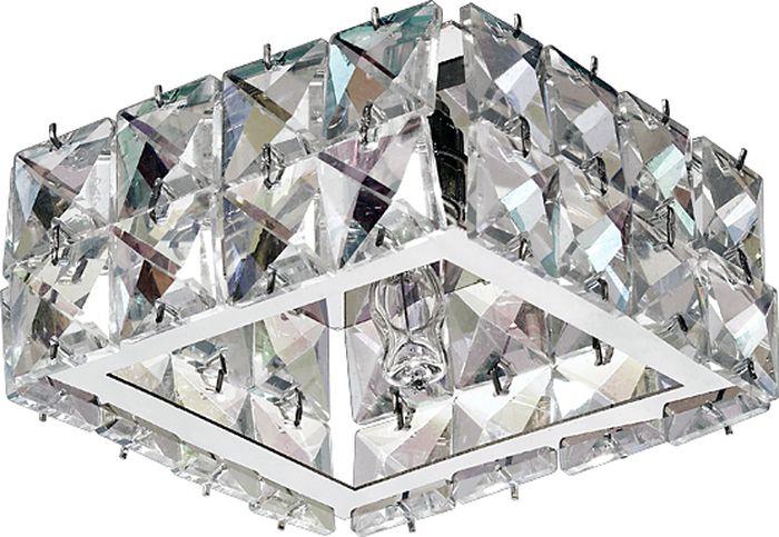 Светильник встраиваемый Novotech Neviera 141, цвет: прозрачный, G9, 2,2 Вт. 370166370166