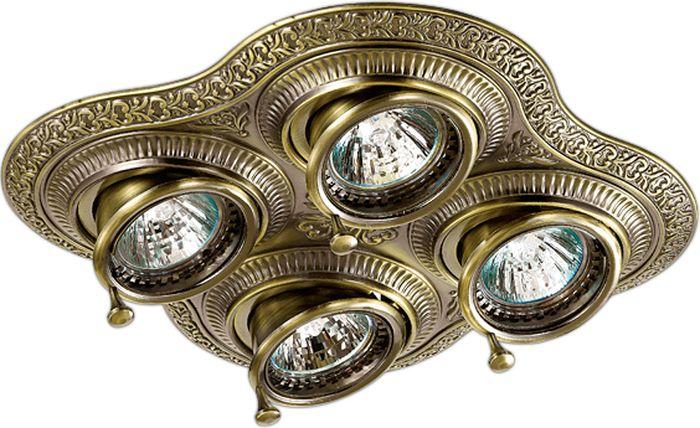 Светильник встраиваемый Novotech Vintage 060, цвет: медь, GX5.3, 11,1 Вт. 370178370178