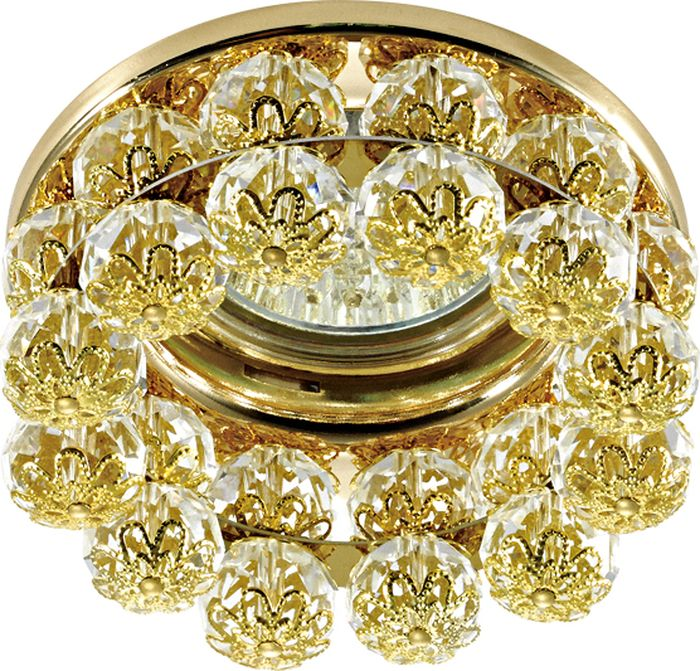 Светильник встраиваемый Novotech Maliny, цвет: золото, GX5.3, 2,8 Вт. 370228370228