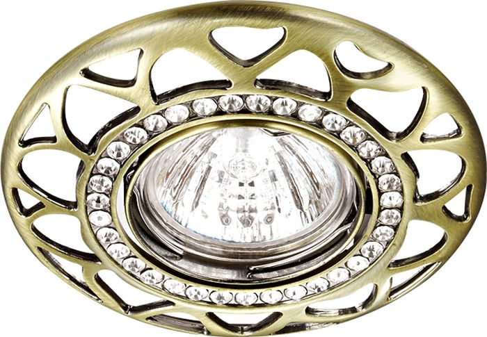Светильник встраиваемый Novotech Peony, цвет: бронза, GX5.3, 2,8 Вт. 370233370233