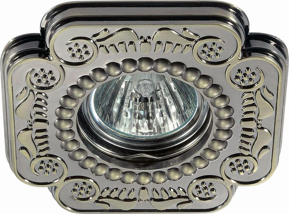 Светильник встраиваемый Novotech Ligna, цвет: бронза, GX5.3, 2,8 Вт. 370284370284