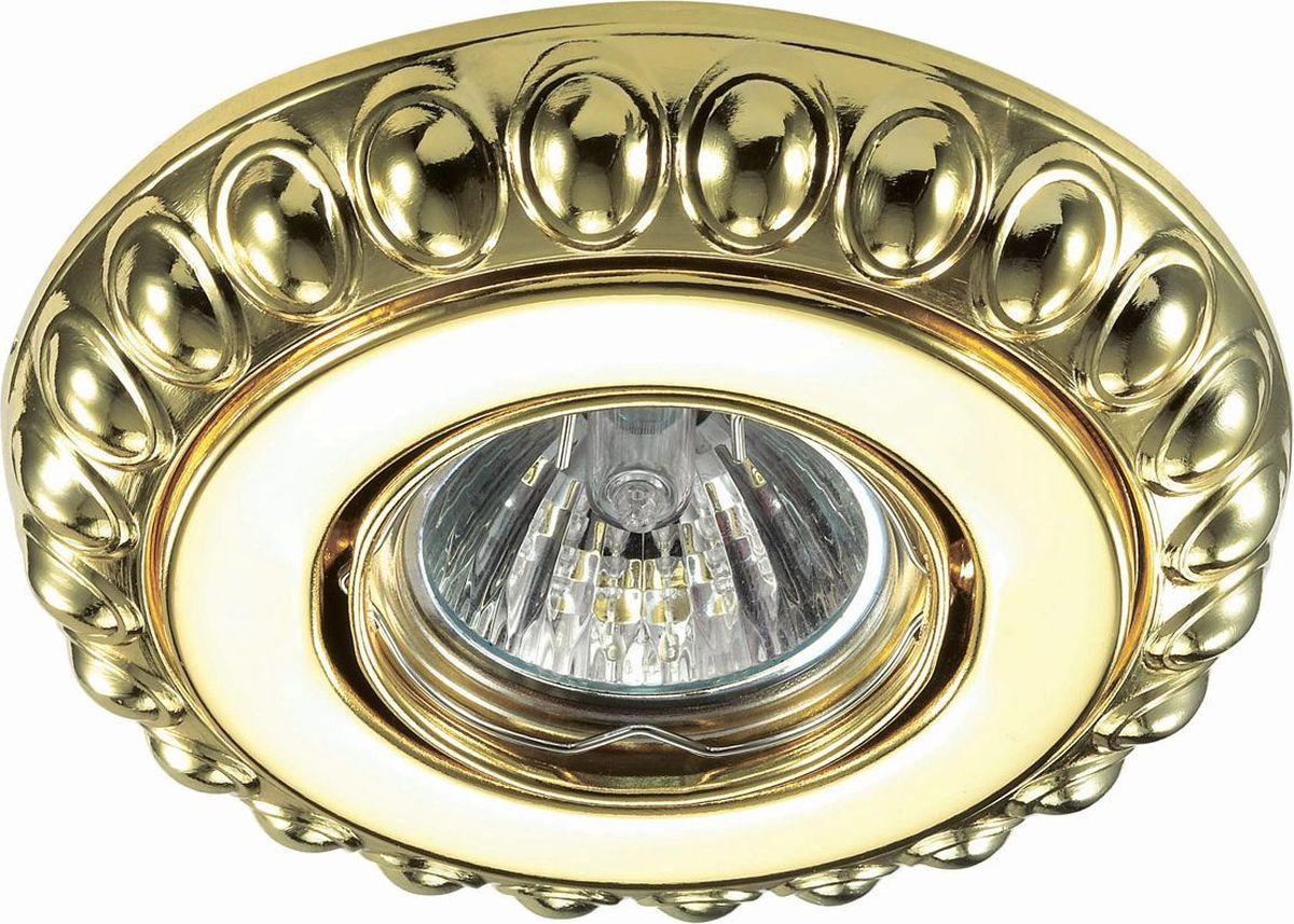 Светильник встраиваемый Novotech Ligna, цвет: золото, GX5.3, 2,8 Вт. 370305370305