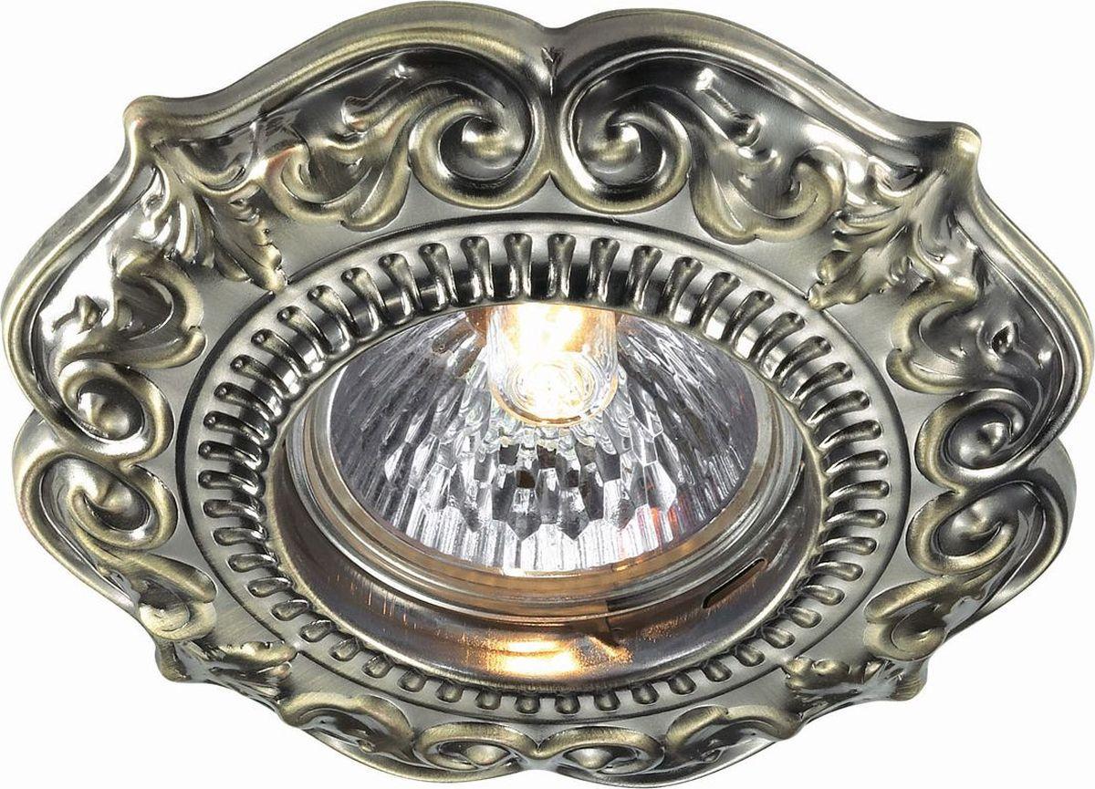 Светильник встраиваемый Novotech Fiori, цвет: бронза, GX5.3, 2,8 Вт. 370309370309