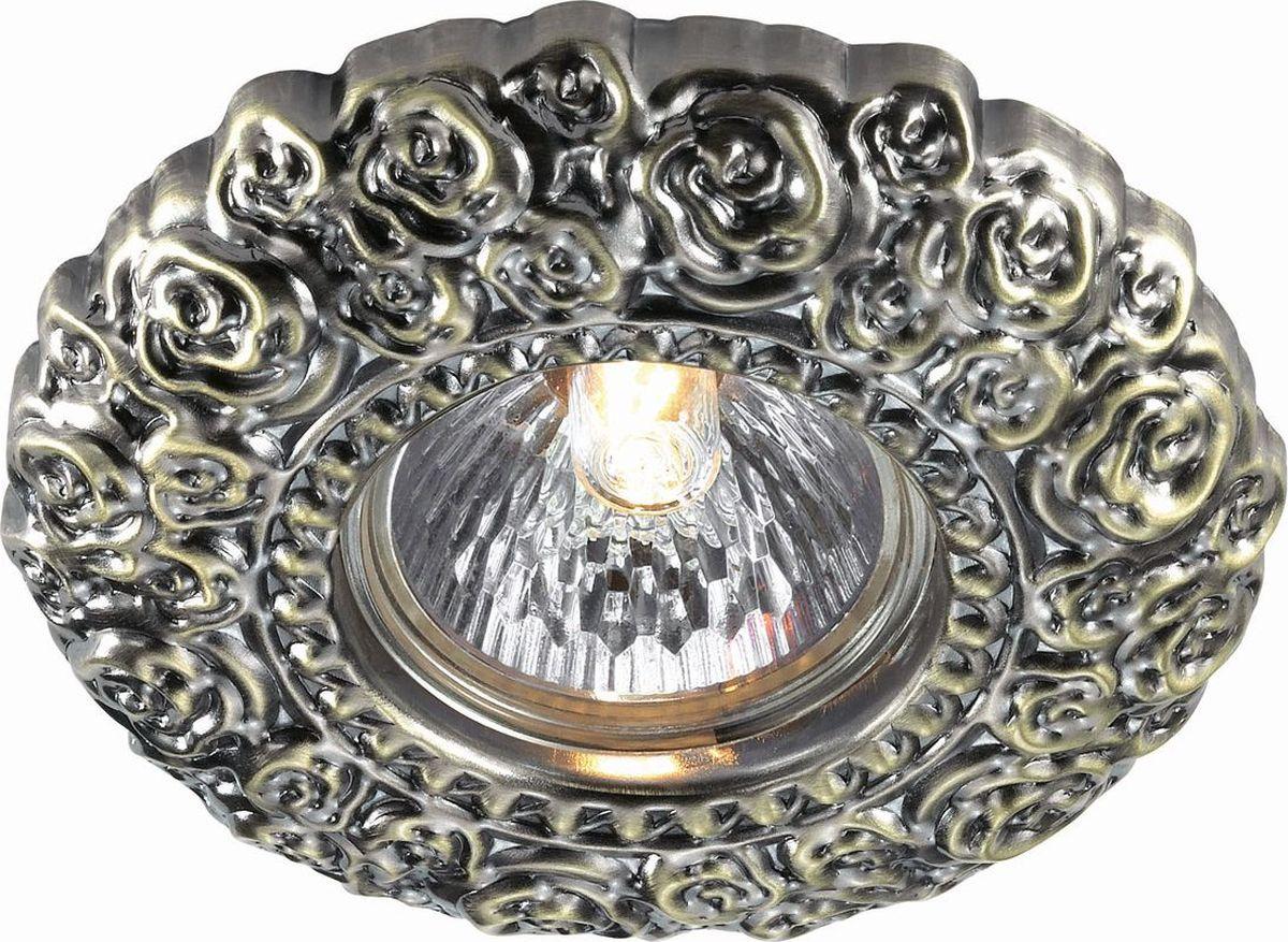 Светильник встраиваемый Novotech Fiori, цвет: бронза, GX5.3, 2,8 Вт. 370310370310