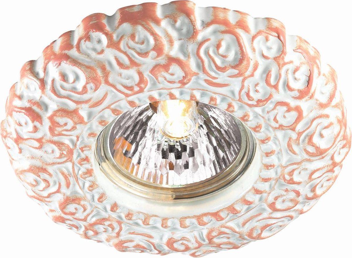 Светильник встраиваемый Novotech Fiori, цвет: белый, GX5.3, 2,8 Вт. 370313370313