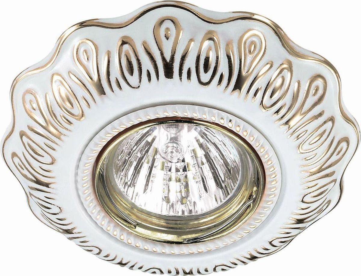 Светильник встраиваемый Novotech Forza, цвет: белый, GX5.3, 2,8 Вт. 370319370319