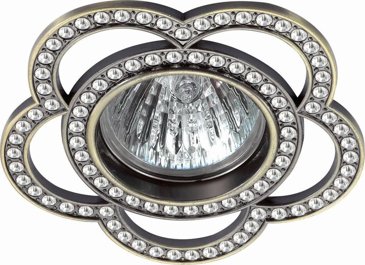Светильник встраиваемый Novotech Candi, цвет: бронза, GX5.3, 2,8 Вт. 370351370351