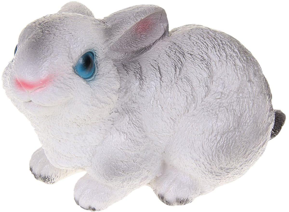 Фигура садовая Premium Gips Сидящий зайчик, цвет: белый, серый, 13 х 20 х 15 см1067170Изделие изготовлено из гипса