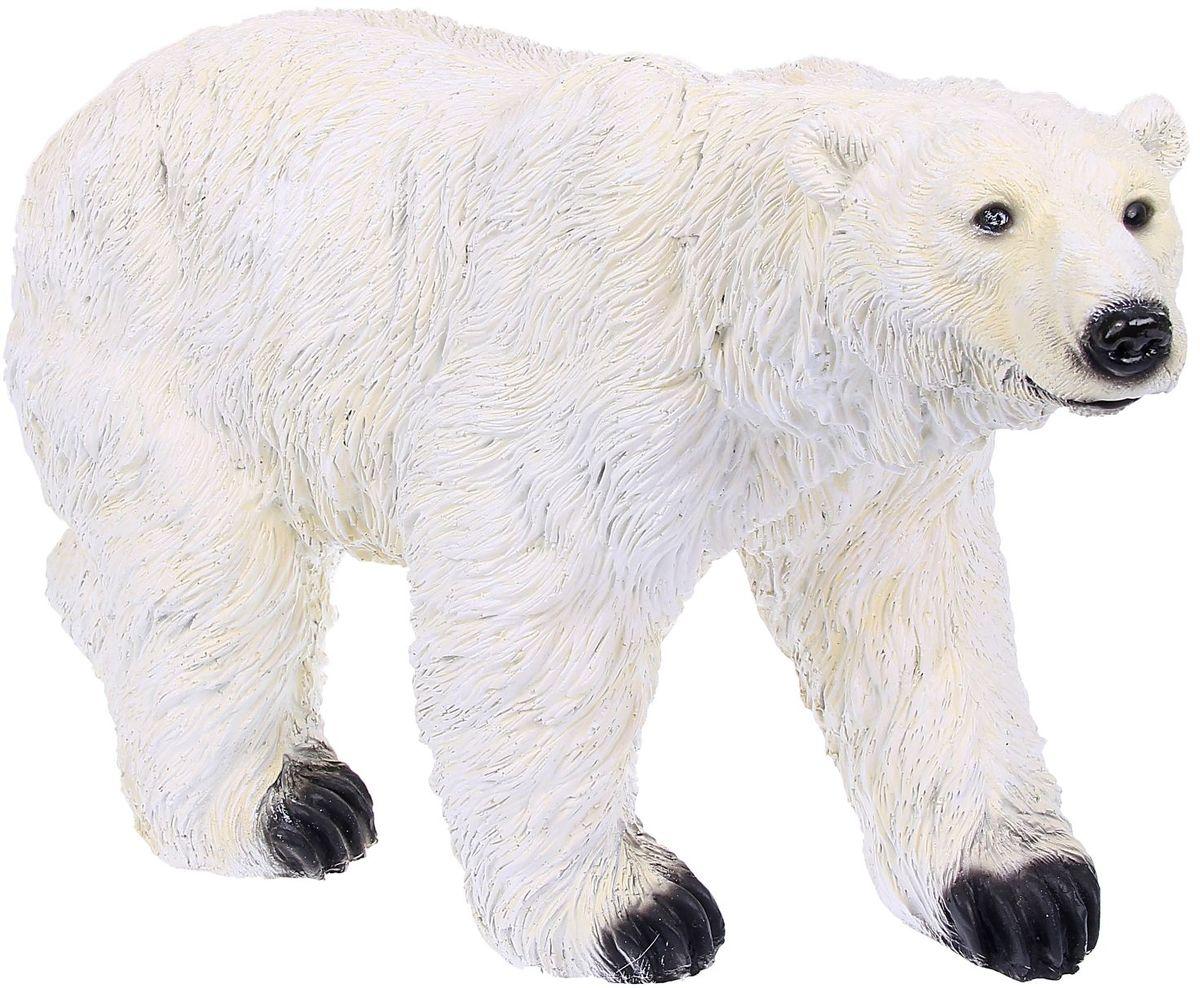 Фигура садовая Белый медведь, 20 х 60 х 33 см1090102Создайте настроение в любимом саду: украсьте его оригинальным декором.Садовая фигура из полистоуна (искусственного камня) — оптимальное решение для уличных условий. Этот материал не выцветает на солнце, даже если находится под воздействием ультрафиолета круглый год. Искусственный камень имеет низкую пористость, поэтому ему не страшна влага и на нём не появятся трещины. Садовая фигура будет хранить красоту сада долгие годы. Размер фигуры: 20 х 60 х 33 см.