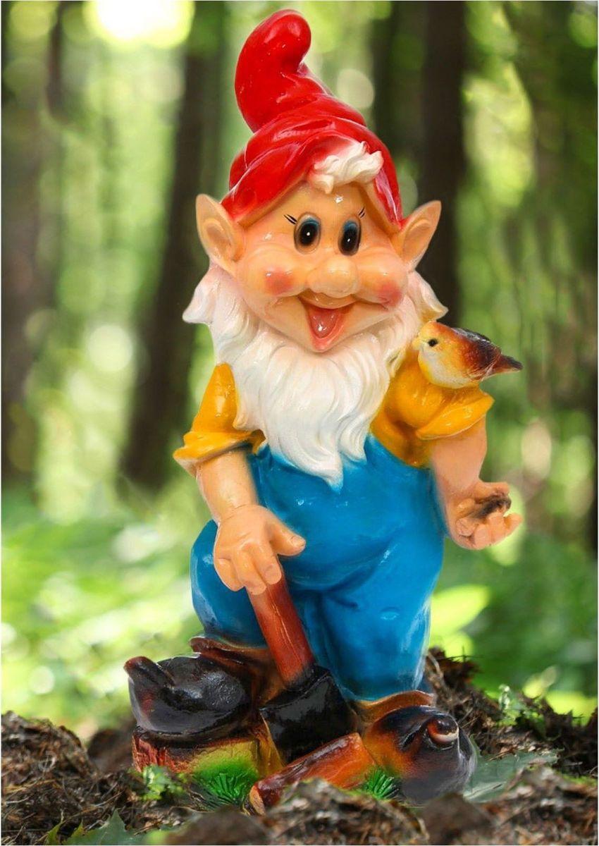 Фигура садовая Гном-весельчак, 24 х 32 х 72 см1121776