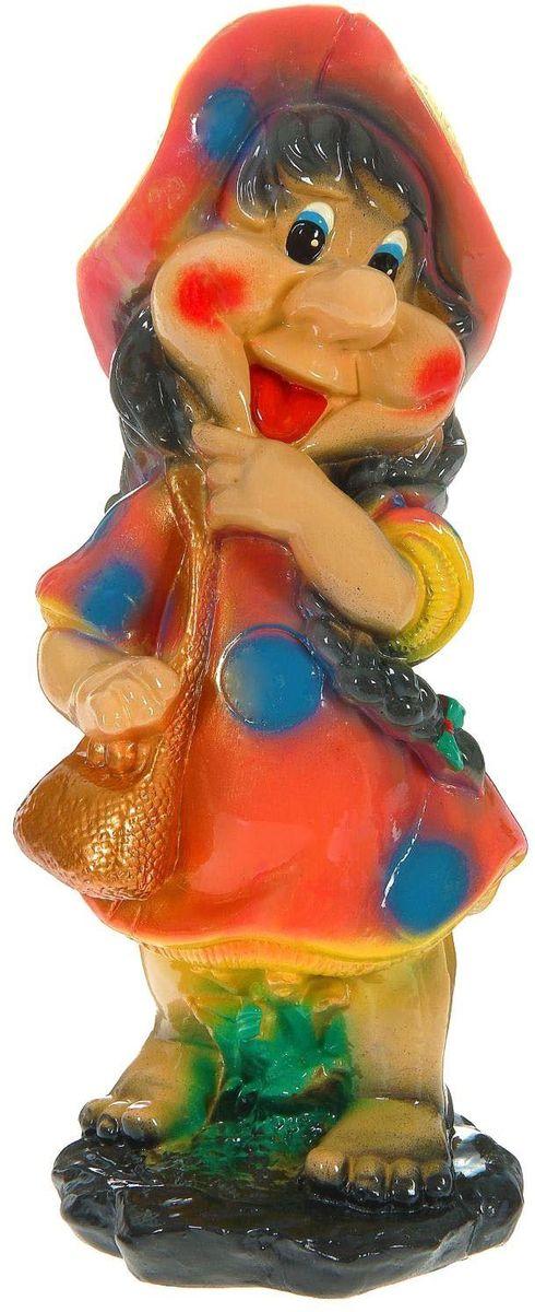 Фигура садовая Premium Gips Гном-девочка с сумочкой , 18 х 17 х 43 см