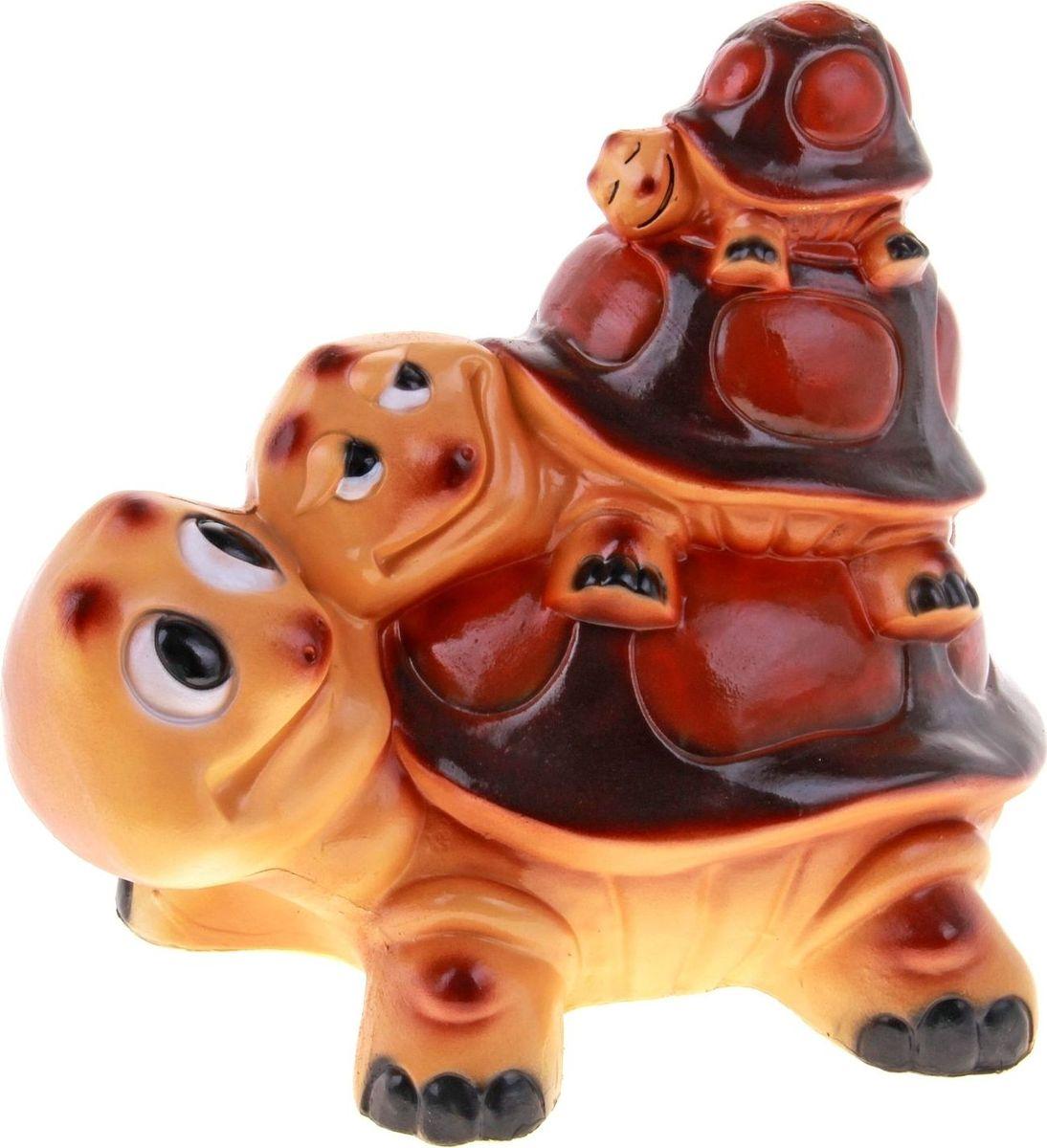 Фигура садовая Семейство черепах, 25 х 24 х 31 см196934Летом практически каждая семья стремится проводить больше времени за городом. Прекрасный выбор для комфортного отдыха и эффективного труда на даче, который будет радовать вас достойным качеством.