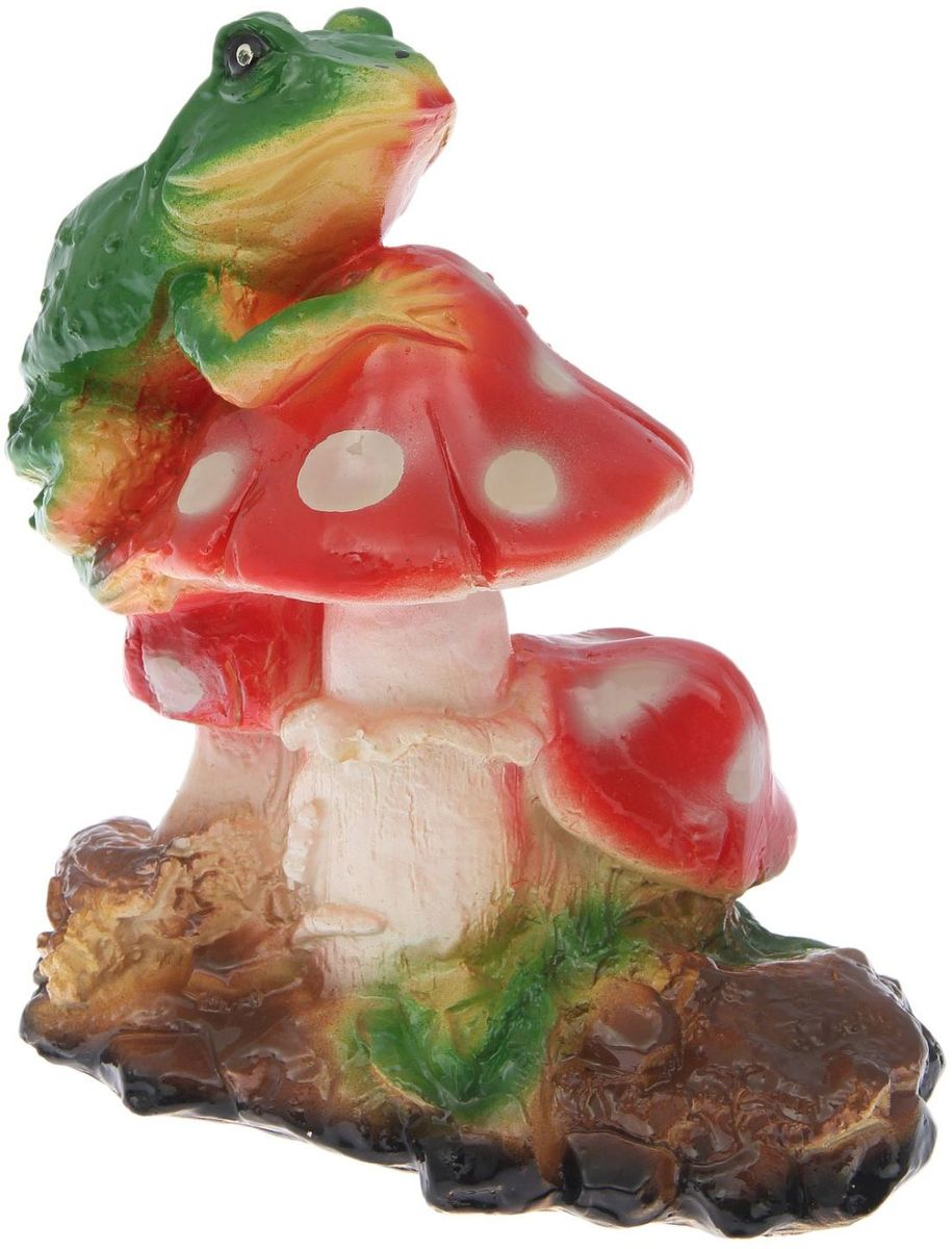 Фигура садовая Лягушка на мухоморе, 23 х 13 х 27 см2122260