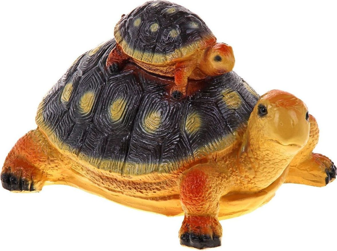 Фигура садовая Черепаха-мама с черепашонком, 26 х 20 х 17 см447364