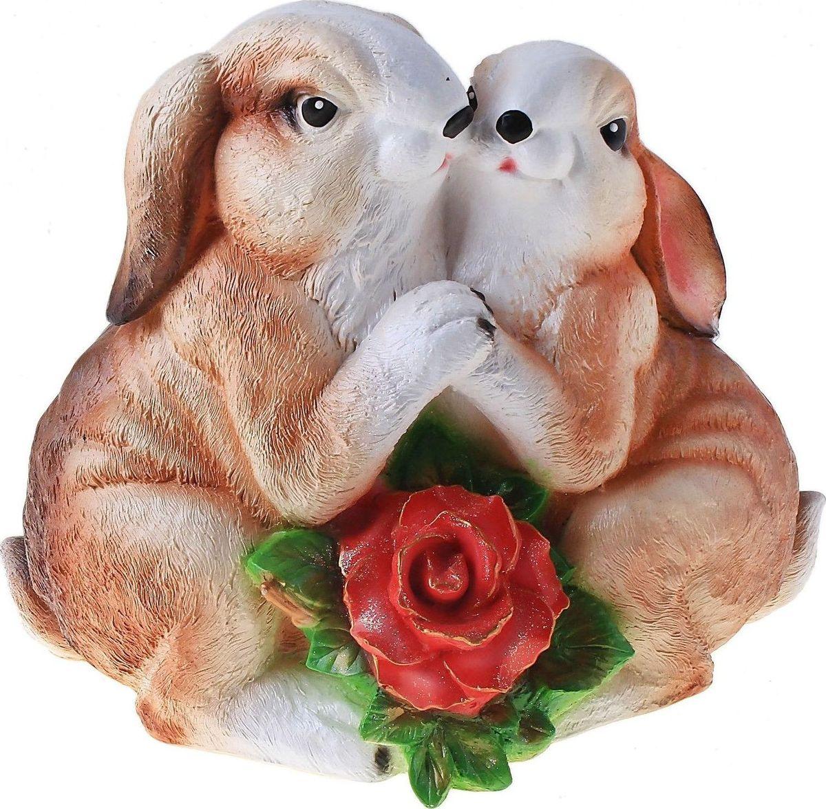 Фигура садовая Парочка зайцев, 29 х 16 х 25 см600294