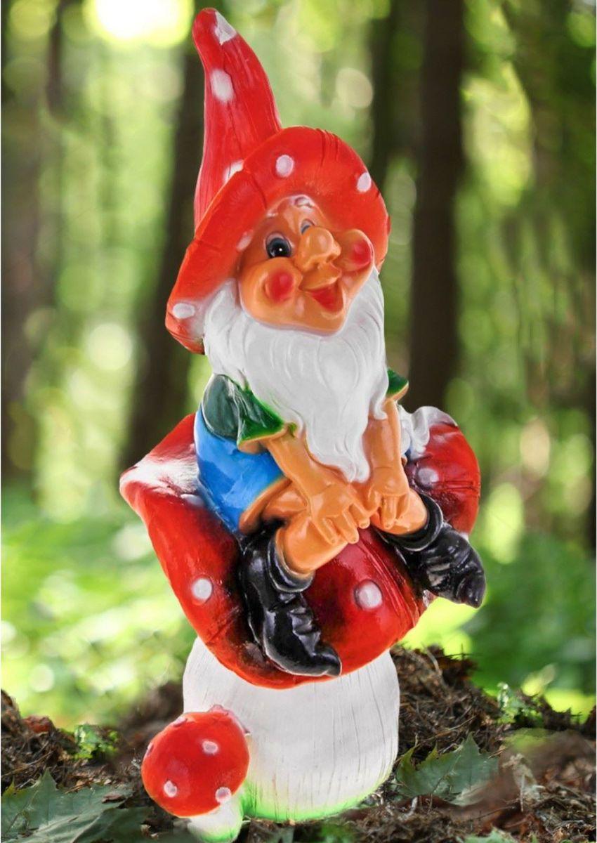 Фигура садовая Гном на мухоморе, 23 х 14 х 51 см606263