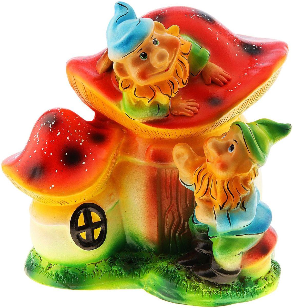 Фигура садовая Гномы на грибах, 30 х 35 х 30 см774870