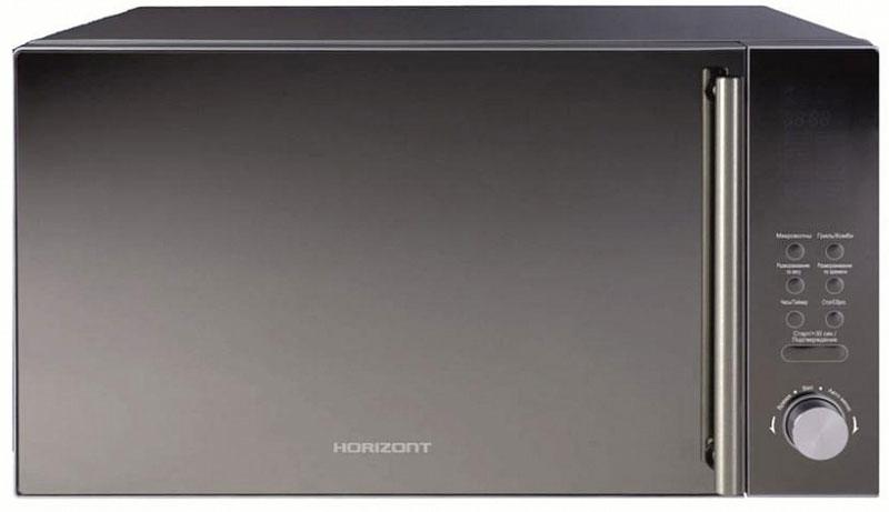 Horizont 25MW900-1479DKB микроволновая печь25MW900-1479DKBМикроволновая печь Horizont 25MW900-1479DKB с удобным управлением имеет мощность микроволн 900 Вт и вместительный объем рабочей камеры, что обеспечивает быстрый разогрев даже большой порции пищи. Мощный гриль обеспечивает приготовление сочного блюда с поджаристой корочкой. Автоматические программы приготовления, предназначенные для разных типов продуктов, обеспечат прекрасный вкус вашим блюдам. Микроволновая печь имеет компактные размеры и стильный дизайн, благодаря чему без труда разместится даже на небольшой кухне и отлично впишется в любой интерьер. Особенности: включение печи в заданное время, функция часов, подача звукового сигнала по окончании процесса приготовления, отключение подсветки камеры печи в процессе приготовления и при открывании дверцы, защита от включения при открытой дверце, крышка для СВЧ в комплекте.