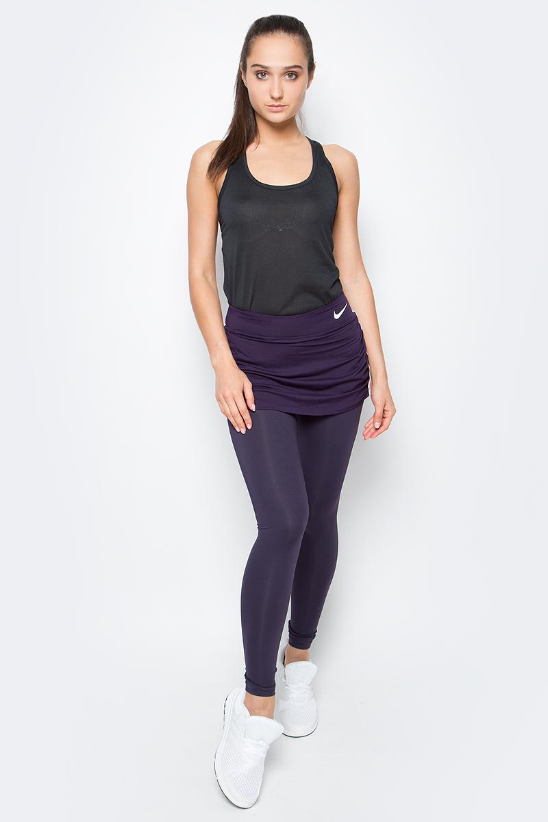 Тайтсы женские Nike Pure Skapri, цвет: темно-фиолетовый. 801624-524. Размер M (44/46)801624-524Женские тайтсы от Nike выполнены из эластичного полиэстера. Эластичная резинка на талии обеспечивает идаельную посадку.