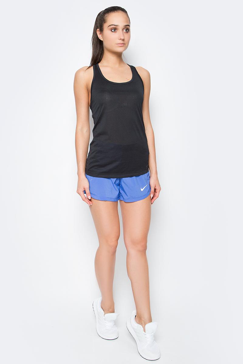 Майка для фитнеса женская Nike Nk Dry Tank Balance, цвет: черный. 648567-010. Размер L (46/48)648567-010Женская майка для тренинга от Nike выполнена из полиэстера. Технология Dri-FIT обеспечивает вентиляцию и комфорт.Т-образная спина с глубокими вырезами обеспечивает свободу движений.Плотная посадка для безграничного комфорта.