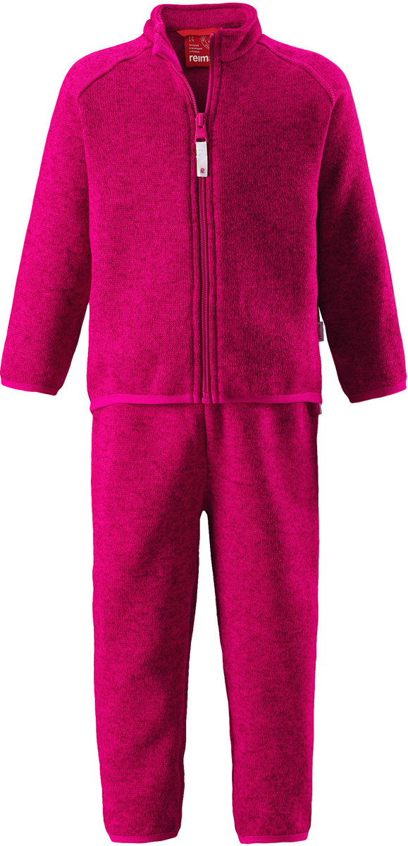 Комплект одежды детский флисовый Reima Tahto: кофта, брюки, цвет: фуксия. 5163213560. Размер 80
