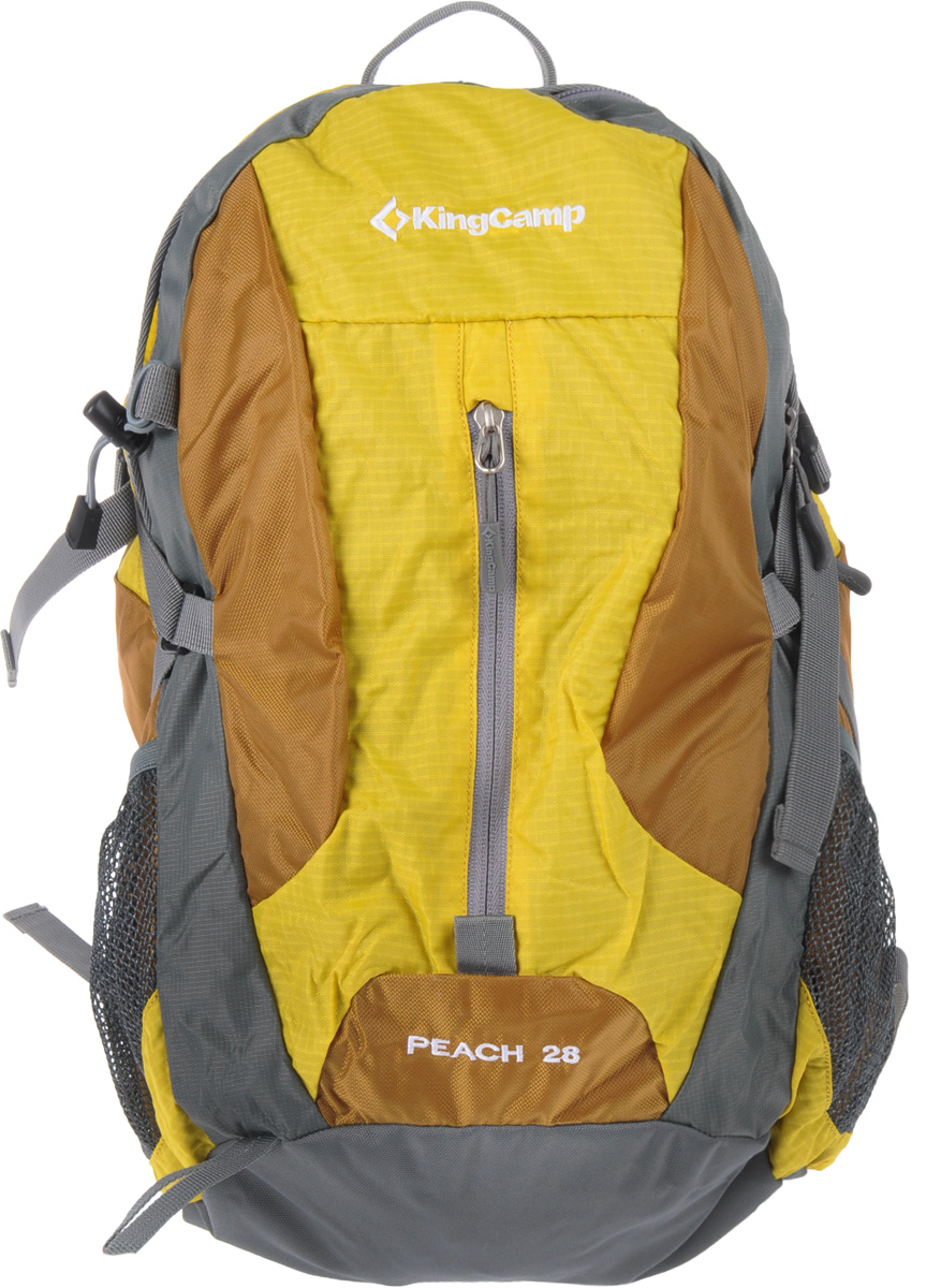 Рюкзак городской KingCamp Peach 28L, цвет: желтыйУТ-000055714Рюкзак городской KingCamp Peach 28L с системой вентиляции спины выполнен из водонепроницаемого материала. Состоит рюкзак из большого отделения с карманом для ноутбука и боковыми карманами. Отделение закрывается на застежки-молнии. Также рюкзак имеет крепеж для инструмента, накидку от дождя, выход для наушников. Характеристики:Размер рюкзака: 44 см х 31 см х 18 см. Объем рюкзака: 28 л. Материал: нейлон 210D RipStop с PU покрытием, полиэстер. Вес: 650 г. Цвет: желтый. Артикул: УТ-000055714.