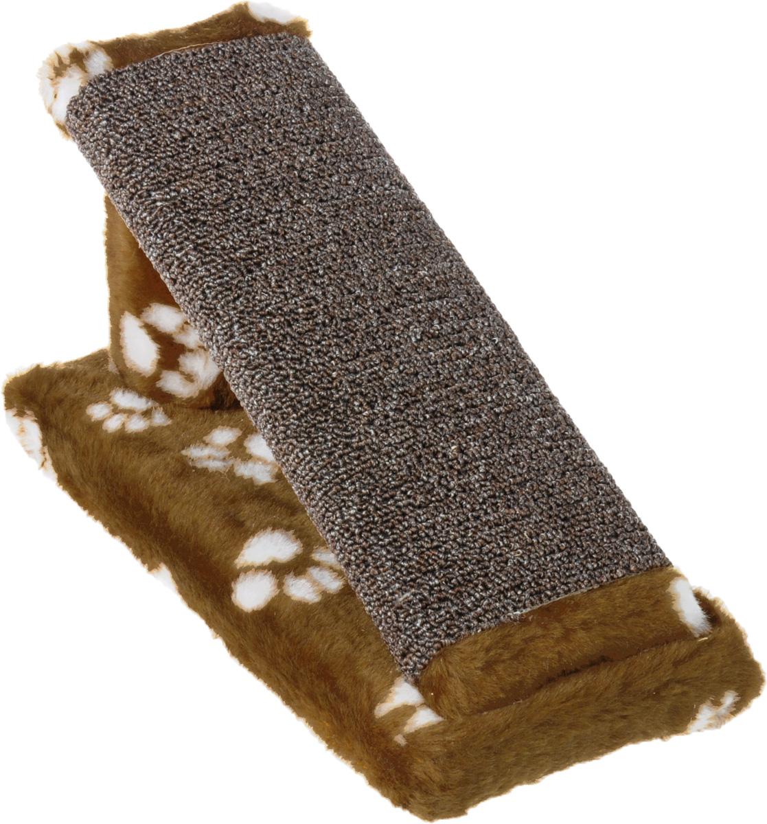 Когтеточка для котят Меридиан Горка, цвет: коричневый, белый, 29 х 14 х 14 смК704Ла_коричневый, белые лапкиКогтеточка Меридиан Горка предназначена для стачивания когтей вашего котенка и предотвращения их врастания. Она выполнена из ДВП, ДСП и искусственного меха. Точатся когти о накладку из ковролина. Такая когтеточка позволяет сохранить неповрежденными мебель и другие предметы интерьера.