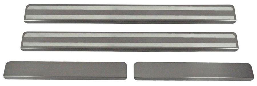 Накладки на пороги Автоброня, для Datsun on-DO 2014-, 4 шт. NPDAOND013NPDAOND013Накладки на пороги Автоброня создают индивидуальный интерьер автомобиля и защищают лакокрасочное покрытие от механических повреждений.Особенности:- Использование высококачественной итальянской нержавеющей стали AISI 304 (толщина 0,5 мм).- Надежная фиксация на автомобиле с помощью скотча 3М серии VHB.- Устойчивое к истиранию изображение на накладках нанесено методом абразивной полировки.- Идеально повторяют геометрию порогов автомобиля.- Легкая и быстрая установка.В комплект входят 4 накладки (2 передние и 2 задние).