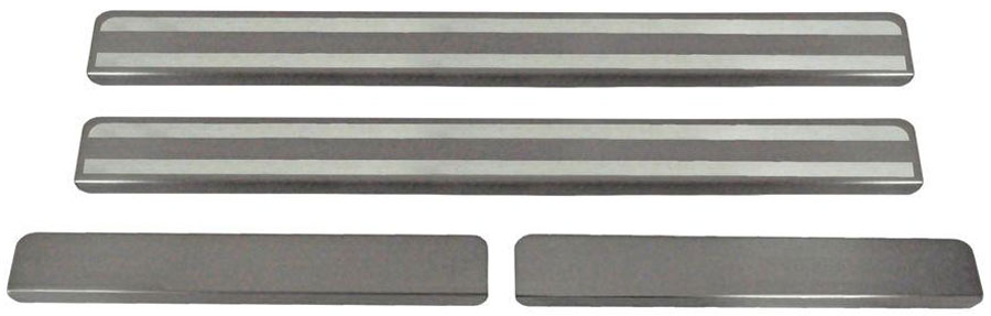 Накладки на пороги Автоброня, для Renault Sandero 2014-, 4 шт. NPRESAN013NPRESAN013Накладки на пороги Автоброня создают индивидуальный интерьер автомобиля и защищают лакокрасочное покрытие от механических повреждений.Особенности:- Использование высококачественной итальянской нержавеющей стали AISI 304 (толщина 0,5 мм).- Надежная фиксация на автомобиле с помощью скотча 3М серии VHB.- Устойчивое к истиранию изображение на накладках нанесено методом абразивной полировки.- Идеально повторяют геометрию порогов автомобиля.- Легкая и быстрая установка.В комплект входят 4 накладки (2 передние и 2 задние).