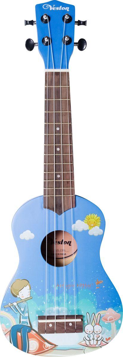 Veston KUS 23BL укулеле veston gs001 подставка под гитару