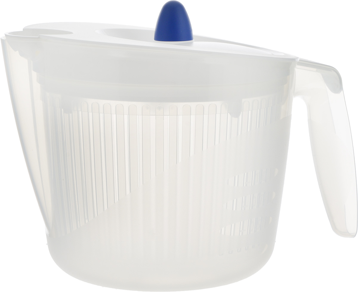 Сушилка для салата Emsa Fit&Fresh, цвет: белый, 2 л сушилка для салата emsa basic 4 л