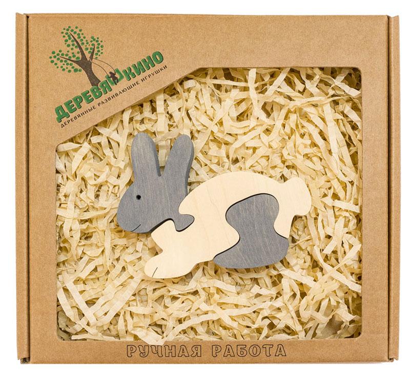Деревяшкино Пазл для малышей Зайчик деревяшкино пазл для малышей бронтозавр 2