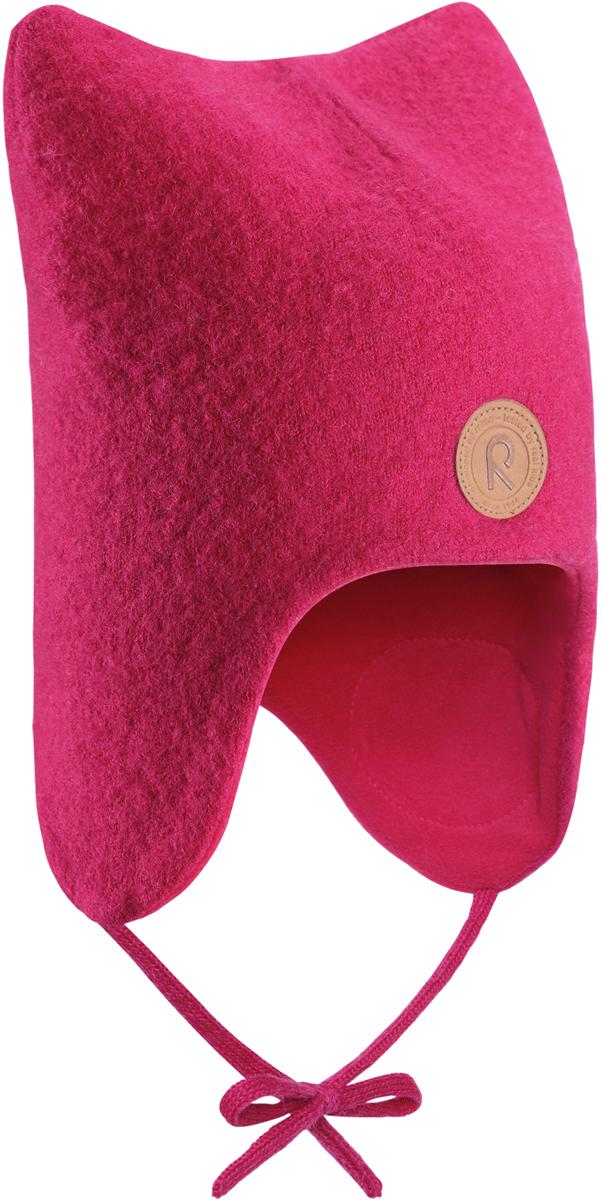 Шапка-бини для девочек Reima Otus, цвет: розовый. 5184353560. Размер 485184353560