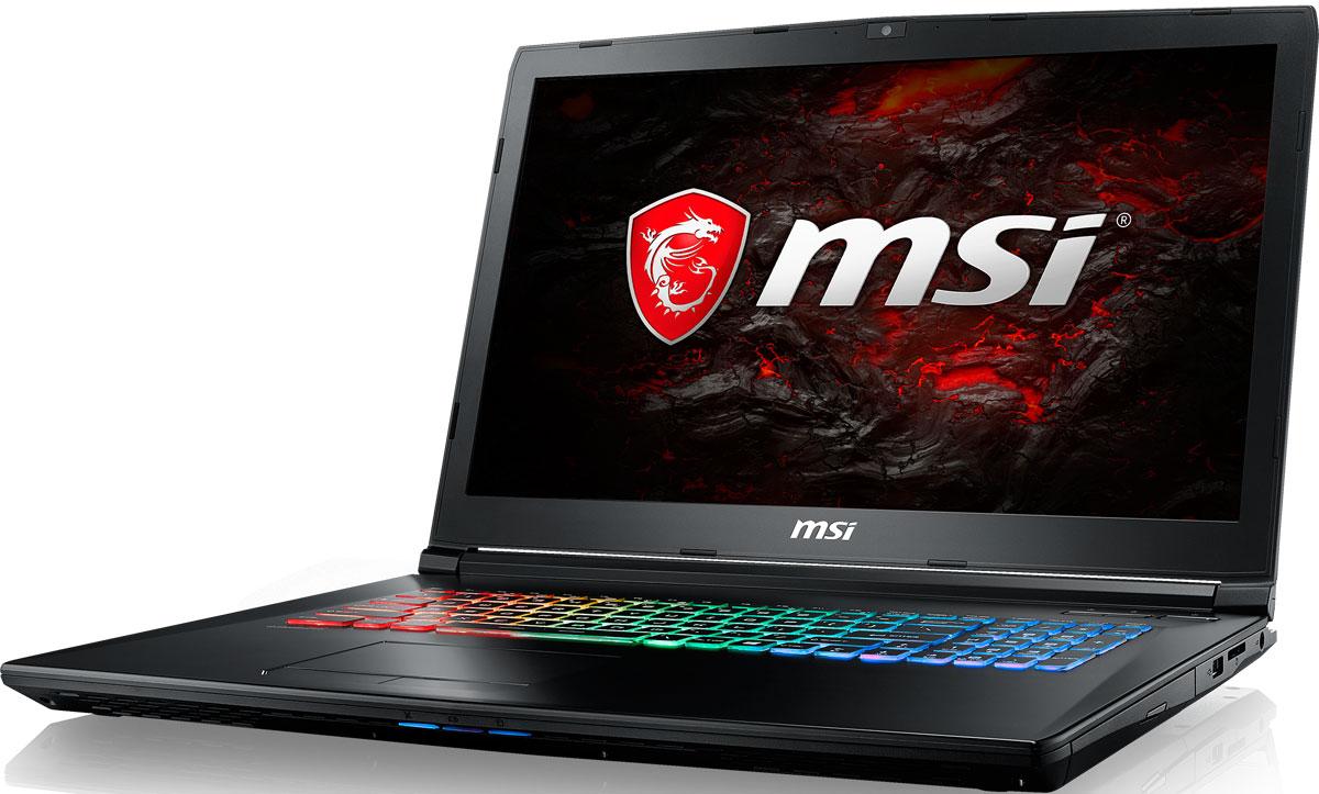 MSI GP72 7RDX-484RU Leopard, BlackGP72 7RDX-484RUMSI GP72 7RDX Leopard - это мощный ноутбук, который адаптирован для современных игровых приложений. Стильный шлифованный алюминиевый корпус прекрасно подчёркивает эстетику и мощь этой игровой машины.MSI стала первой, кто применил новейшее поколение видеокарт NVIDIA Pascal в игровых ноутбуках. 3D-производительность GeForce GTX 1050 по сравнению с GeForce GTX 960M увеличилась более чем на 30%. Инновационная система охлаждения Cooler Boost 4 и особые геймерские технологии раскрыли весь потенциал новейшей NVIDIA GeForce GTX 1050.Седьмое поколение процессоров Intel Core серии H обрело более энергоэффективную архитектуру, продвинутые технологии обработки данных и оптимизированную схемотехнику. Производительность Core i7-7700HQ по сравнению с i7-6700HQ выросла в среднем на 8%, мультимедийная производительность - на 10%, а скорость декодирования/кодирования 4K-видео - на 15%. Аппаратное ускорение 10-битных кодеков VP9 и HEVC стало менее энергозатратным, благодаря чему эффективность воспроизведения видео 4K HDR значительно возросла.Запускайте игры быстрее других благодаря потрясающей пропускной способности PCI-E Gen 3.0x4 с поддержкой технологии NVMe на одном устройстве M.2 SSD. Используйте потенциал твердотельного диска Gen 3.0 SSD на полную. Благодаря оптимизации аппаратной и программной частей достигаются экстремальный скорости чтения до 2200 МБ/с, что в 5 раз быстрее твердотельных дисков SATA3 SSD.Вы сможете достичь максимально возможной производительности вашего ноутбука благодаря поддержке оперативной памяти DDR4-2400, отличающейся скоростью чтения более 32 Гбайт/с и скоростью записи 36 Гбайт/с. Возросшая на 40% производительность стандарта DDR4-2400 (по сравнению с предыдущим поколением, DDR3-1600) поднимет ваши впечатления от современных и будущих игровых шедевров на совершенно новый уровень.Эксклюзивная технология MSI SHIFT выводит систему на экстремальные режимы работы, одновременно снижая шум и температуру до минима
