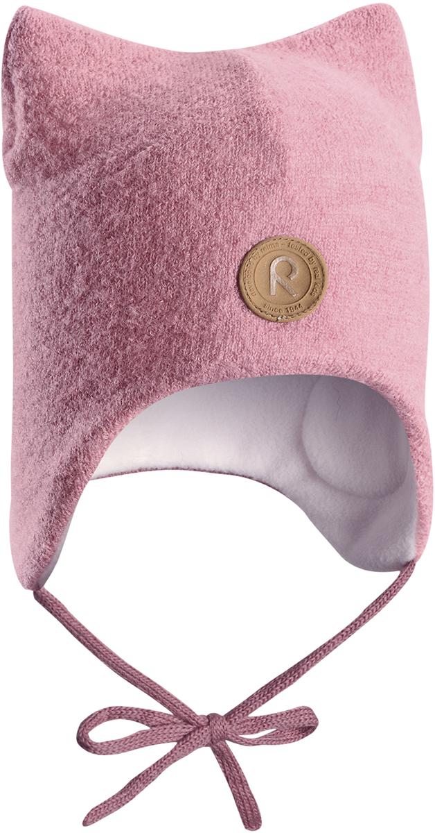 Шапка-бини для девочки Reima Otus, цвет: розовый. 5184354320. Размер 465184354320Детская шерстяная шапка Reima из красивого, бархатного на ощупь материала не боится мороза. Шапка связана из шерсти, которая является идеальным терморегулятором, и подшита приятной на ощупь флисовой подкладкой. Ветронепроницаемые вставки в области ушей и завязки надежно защитят от холодного ветра.